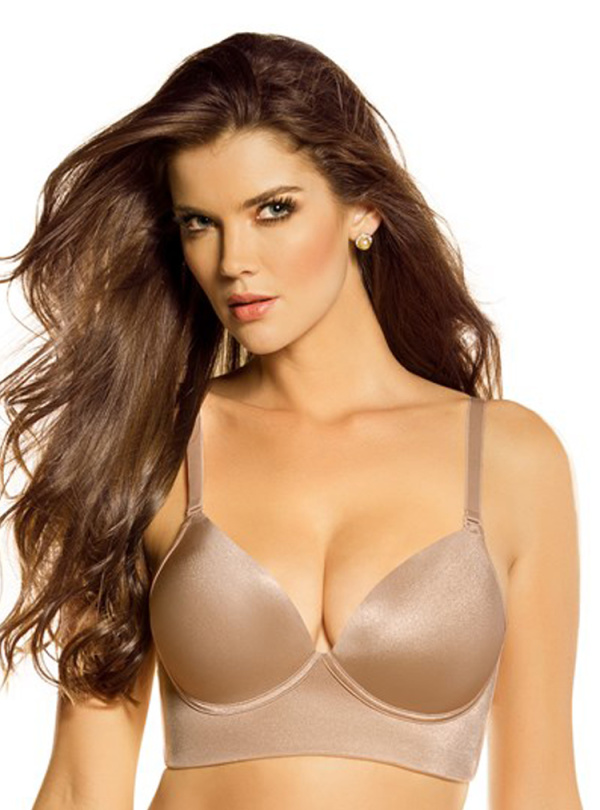 Deep Plunge Wireless Push Up Bra