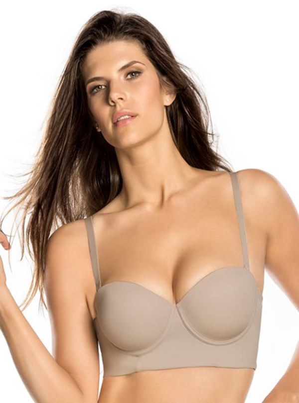 Strapless Long Line Push Up Bra