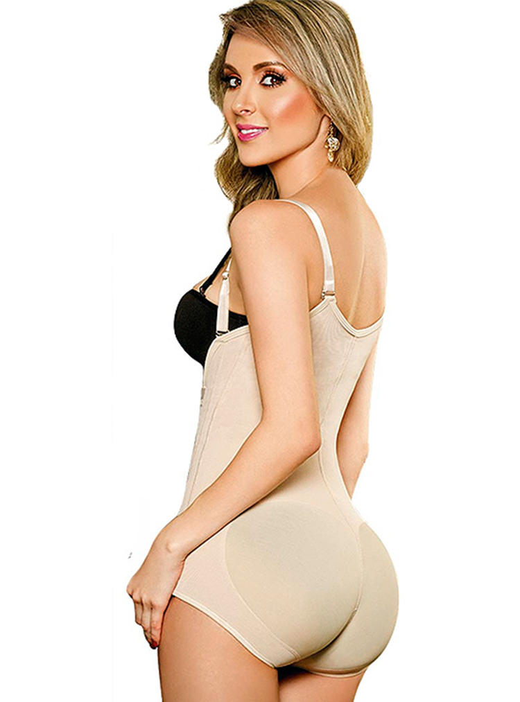 1214 Powernet Girdle Verox Slim Zipper At Side Panty Type Back