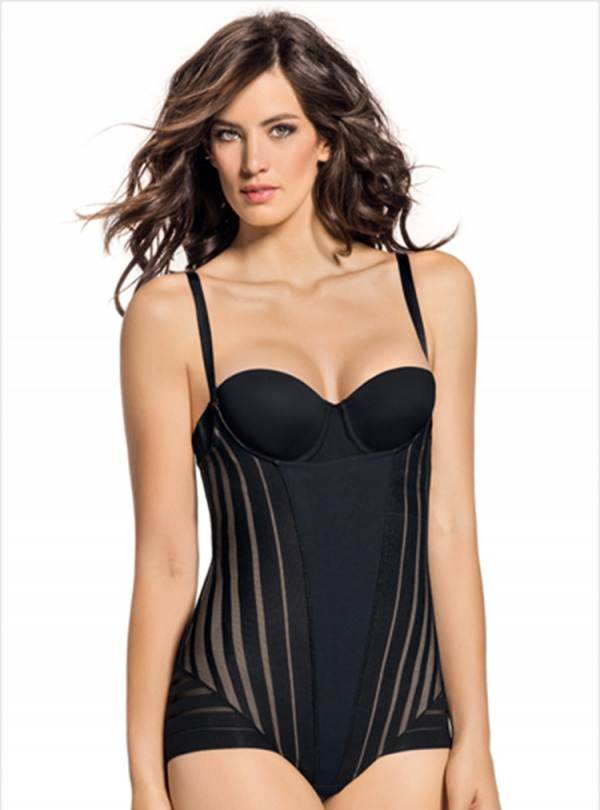 Bodysuit Shaper Open Bust Firm Control