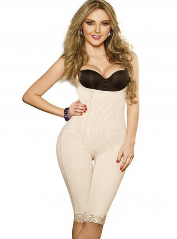 Powernet Girdle Side Zipper Long Thigh